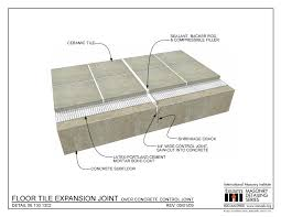 06 130 1302 detail floor tile expansion joint over concrete control joint