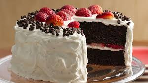 Chocolate Strawberry Cake With Fluffy Frosting Recipe Bettycrockercom