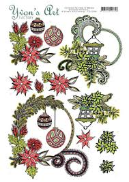 Christmas Swirls 3d Knipvel Yvons Art Factory Christmas Swirls
