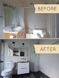 Modern bathrooms Sink Small Modern Bathroom Remodel Before After Maison Valentina Small Modern Bathroom Remodel Before After Paperblog