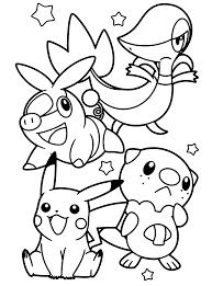 Pokemon Paradijs Kleurplaat Tepig Snivy Pikachu En Oshawott