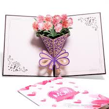 3d Pop Up Cards Mothers Day Gifts Card I Love Mom Carnation Flowers Bouquet Greeting Cards For Mother Birthday Card Free Birthday Greeting Card Free