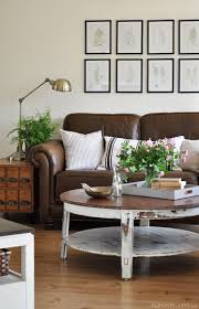 country cottage style living room. Country Cottage Living Room With Leather Sofa From The Painted Hive Style