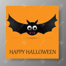 Halloween Gift Cards Halloween Gift Card With Flying Bats Vector Illustration
