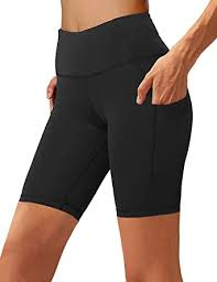 Aoliks <b>Women's High Waist</b> Yoga Short Side Pocket Workout <b>Tummy</b> ...