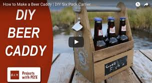 build your own beer caddy tutorial