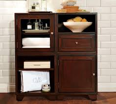 Elegant Bathroom Storage Cabinets Linen Storagebathroom At