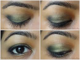 gold green blue eye makeup 2