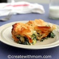 phyllo pastries with cote cheese and spinach and two giveaways