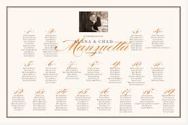 Seating Chart Wedding Pretty Silhouette Photography Wedding Seating Chart