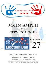 Election Poster Template Microsoft Word Free Political Campaign