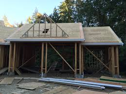 garage office designs. Week 16 Roof Sheathing Well House Foundation Coastal Hues They Even Started On The Gable Top Office Garage Designs M