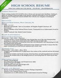 High School Student Resume Samples With Objectives Gentileforda Com