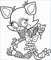 Fnaf Coloring Book Free Beautiful Cool Foxy Coloring Pages Fox