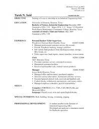 Banker Resume Objective Best of Objective For Resume Bank Teller Shalomhouseus