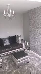 silver grey wallpaper for living room