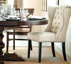 dining chair with nailheads tufted dining room chairs wingback dining chair with nailhead trim