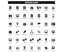 Resume Icons Cv Clip Art Curriculum Clipart Set Of Icons Black