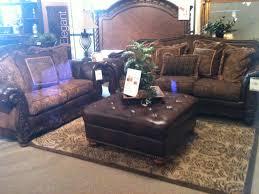 Old World Furniture Design Rustic Leather Old World Furniture Set Ashley Furniture