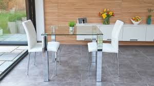 Small Kitchen Table 2 Chairs Dining Room Small Square Clear Black Glass Dining Table And 2