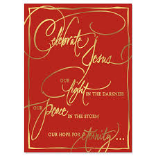 Christmas Cards Images Faith Calligraphy Deluxe Foil Religious Christmas Card Current Catalog