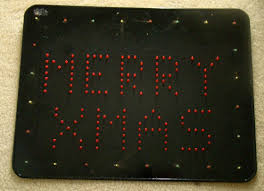 make your own animated led christmas sign embedded lab led display board front view