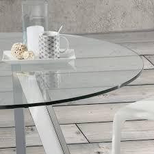 Esstisch Aus Glas Agata ø130 Cm Mit Gechromten Beinen