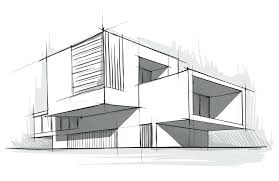 modern home architecture sketches. Simple Modern Drawing Of A Modern House Architecture Throughout Modern Home Architecture Sketches K