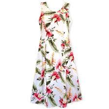 Cloud Cream Darling Hawaiian Midi Dress
