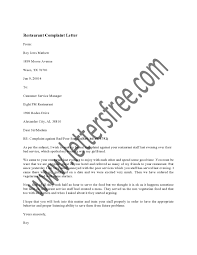 Business Complaint Letter Business Complaint Letter A Restaurant Complaint Letter Is Usually 22