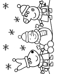 Peppa pig christmas ice skating coloring pages. Peppa Suzy And Snowman Coloring Page Topcoloringpages Net