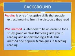 Kwl Chart Gorgeous Teaching Reading By Kwl Method