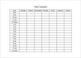 Daily Activities Template 13 Activity Schedule Templates Word Excel Pdf Free