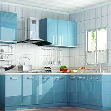 kitchen cabinet contact paper glossy blue self adhesive cupboard shelf liner l stick x cm wall