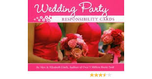 Wedding Party Responsibility Cards: Elizabeth Lluch, Alex Lluch ...