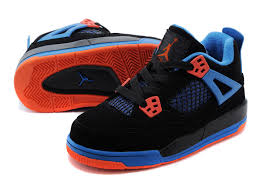 jordan shoes 2015 for boys black and red. kids air jordan 4 black blue orange 2015 shoes for boys and red r
