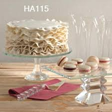 crystal cake plate stand hire london
