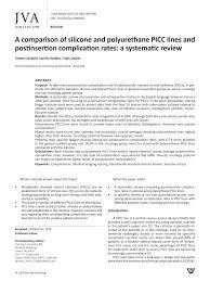 Pdf A Comparison Of Silicone And Polyurethane Picc Lines