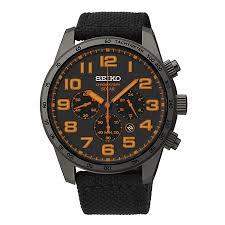 seiko solar men s chronograph black canvas strap watch h samuel seiko solar men s chronograph black canvas strap watch product number 1717219