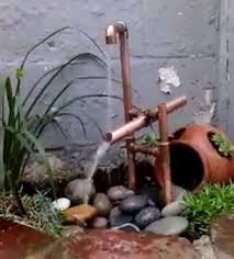 picture of copper pipe japanese shishi odoshi fountain