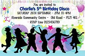 Childrens Disco Invitations Personalised Disco Birthday Party Invitations X10 Amazon Co