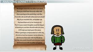 shakespeare s sonnet theme analysis video lesson shakespeare s sonnet 71 theme analysis video lesson transcript com