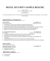 Hotel Security Resume Sample (http://resumecompanion.com)