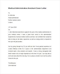 Resume Cover Letter Examples For Administrative Assistants Medical