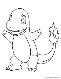 Small Picture Pokemon Charmander Coloring Page 01 Coloring Page Central
