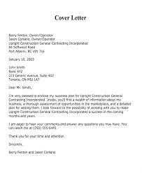 Sample Cover Letter Business Covering Letter For Business Proposal Sample Cover Letter For A