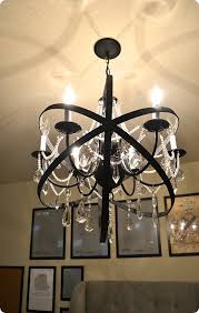 diy home decor restoration hardware knock off orb chandelier made with a plain chandelier