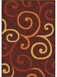 orian rugs indoor outdoor scroll semi swirls brown runner 2 3 x 8 contemporary outdoor rugs by nget1618