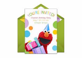 Elmo Party Hat Online Invitation Elmo 2nd Birthday Party