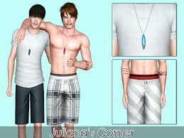 Surf Addiction- necklace for male - The Sims 3 Catalog